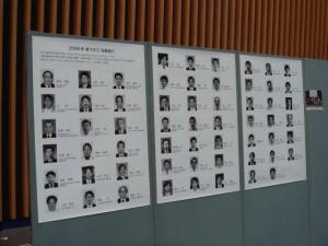学会会場に掲示された新FJCCの顔写真